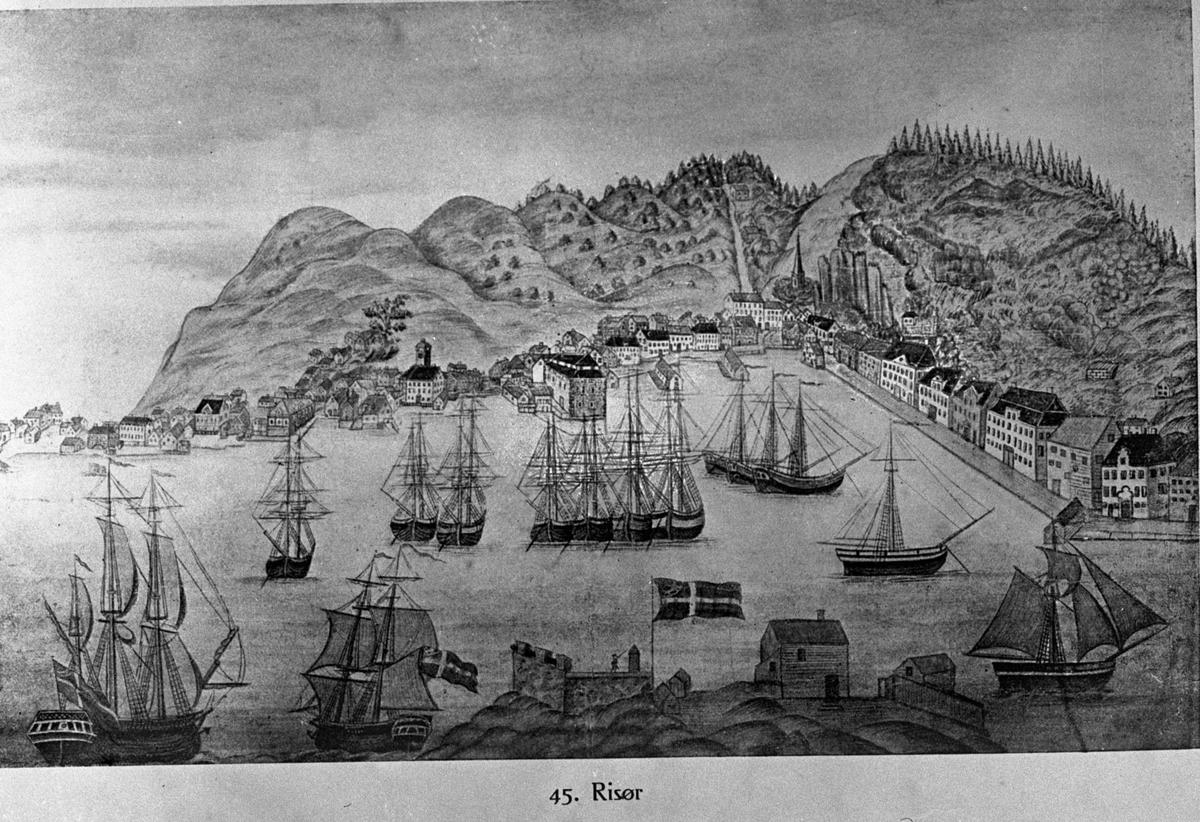 Måleri Risør - Severin Worm-Pedersen. Eigar: Norsk teknisk museum